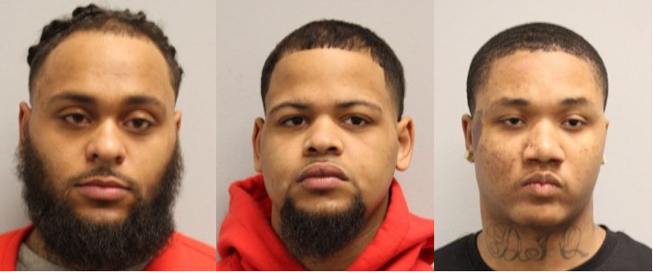 3 Arrested on gun, drug charges after being disorderly with restaurant security