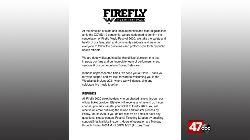 1280 Firefly Cancelled