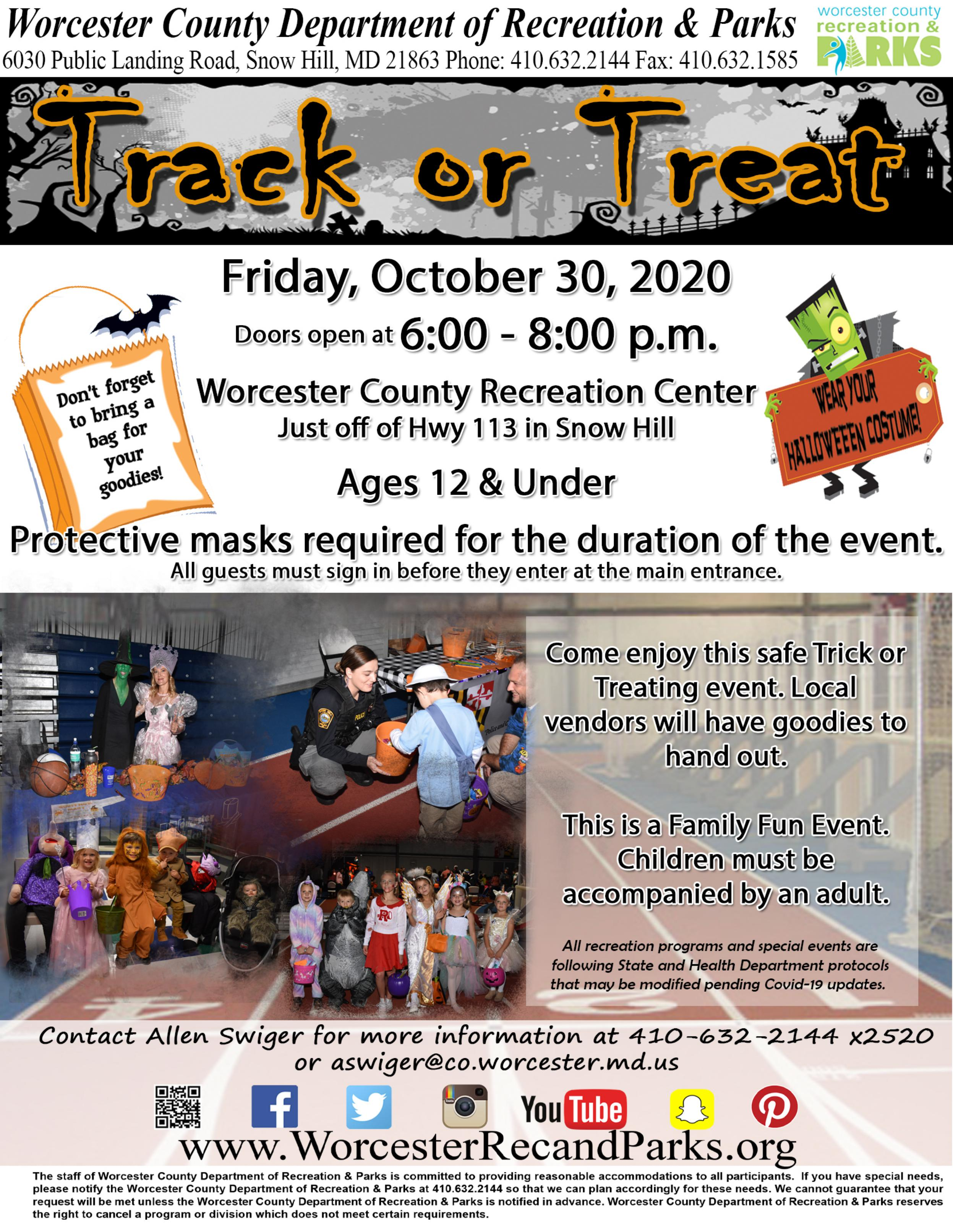 Worcester Halloween 2020 Worcester County Recreation and Parks putting on 'Track or Treat